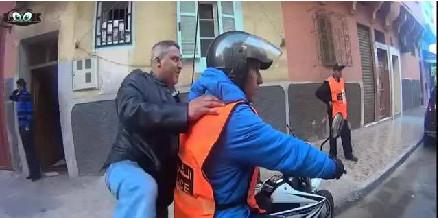 حملة أمنية ضد التشرميل مباشرة(فيديو)